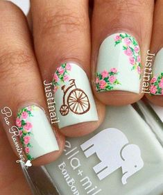 women nails fashion on party