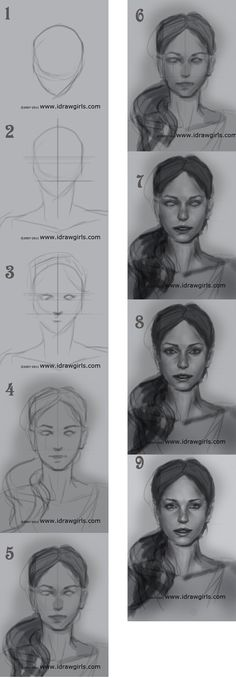 How to draw a female face                                                                                                                                                                                 More
