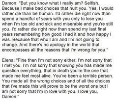 Damon / Elena speech :)))) ...
