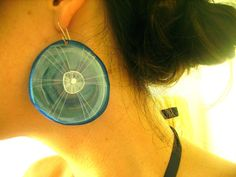 JellyFish Earrings  recycled plastic jewelry by DawnBoltonDesign
