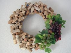 Wine cork wreath!