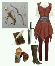 medieval archer A fashion look from December 2015 by rachellynn-couture featuring Vero Moda Renaissance Costume, Medieval Costume, Medieval Dress, Medieval Fashion, Medieval Clothing, Women's Clothing, Medieval Outfits, Medieval Pants, Renaissance Outfits