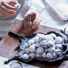 Chocolate-Espresso Snowballs! A coffee twist on Russian Tea Cookies! Yay!