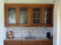 Custom stained glass windows & cabinet inserts made to order!  Http://StainedGlassWindows.com