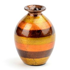 Orange Stripe Color Infusion Mini Vase | Kirklands