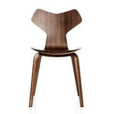 Arne Jacobsen chair with new wooden legs reintroduced