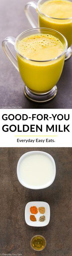 Easy 5-Minute Golden Milk Recipe | EverydayEasyEats.com