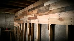 Pallet wall for the man cave