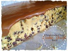 Chocolate chip cookie dough bar's