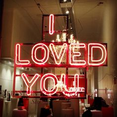 'I loved you' Nein in SoHo, NYC