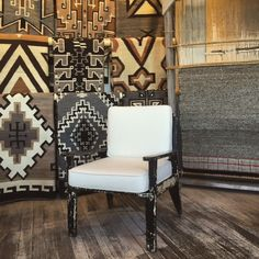 Shiprock Gallery Santa Fe A beautiful corner of our rug room, featuring some of our Two Gray Hills Native American Rugs, Living In Dallas, Navajo Rugs, Indian Rugs, Modern Colors, Room Rugs, Santa Fe, Accent Chairs, Dining Chairs