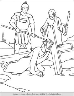 Popular Coloring Pages Of Jesus On The Cross 72 First Station of the