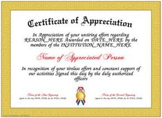 Military Certificate Of Appreciation Template Download Certificate Of Appreciation 06  Adidas  Pinterest  Free .