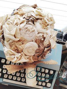 LOVE IT!!!!!!!!!!!!!!!!!!!!!!! Tessa what do you think?????Handmade Bridal Bouquet Weddings Vintage by rosebudlipsbridal, $155.00