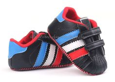 Baby Boy Black Adidas Original Soft Sole Crib Shoes Sneakers US$8.95 free shipping Baby Boy Shoes, Crib Shoes, Dark Blue, Light Blue, Black Adidas, Black Stripes, Adidas Originals, Shoes Sneakers, Beige