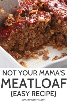 Definitely not your mama's meatloaf. Packed full of amazing flavor, your family … Definitely not your mama's meatloaf. Packed full of amazing flavor, your family will love this easy meatloaf recipe so much, it'll practically fly off the dinner table. Easy Meatloaf Recipe With Oatmeal, Classic Meatloaf Recipe Easy, Easy Meatloaf Recipe With Bread Crumbs, Good Meatloaf Recipe, Meat Loaf Recipe Easy, Meatloaf In Crockpot, Easy Meatloaf Recipe Onion Soup Mix, Meatloaf With Sausage, Pastries