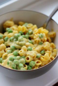 Macaroni & Peas (Kid-Friendly & Dairy-Free!) by Daily Garnish