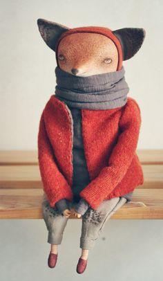 лисенок Линус. сложная натура. эстект. в его возрасте читать Рембо- это о многом говорит.кукла сделана в единственном экземпляре. голова, руки и ноги - паперклей. тело текстильное, мягкое. одежда - лен, хлопок. роспись акварель, цв. карандаши. закреплен…