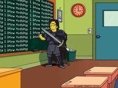 Jon Snow Bart Simpson I know nothing