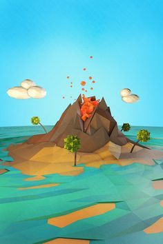 volcanic eruption image from the guys at GEO A DAY!
