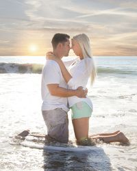 Beach engagement session.