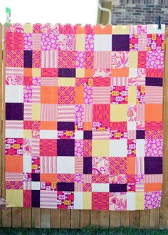 Easy Quilt project, plus win the fabric used this quilt!