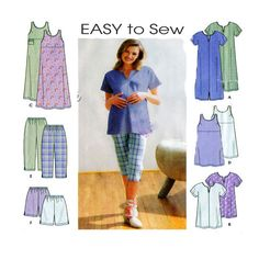 Maternity Coordintates Easy to Sew by FindCraftyPatterns on Etsy