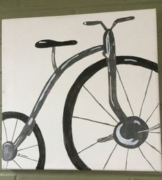 vintage bicycle acrylic painting bicycle art bicycle by Bedotted