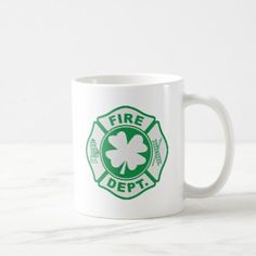 Irish Fire Dept Coffee Mug firefighter ideas, firefighter nursery ideas, firefighter halloween costume St Patricks Day Nails, St Patricks Day Food, Firefighter Halloween, Firefighter Gear, Starbucks Crafts, Desserts Valentinstag, St Patrick Day Treats, St Patrick's Day Outfit, St Patrick's Day Gifts