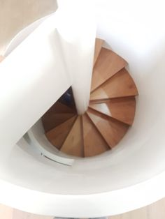 MEWA spiral stairway - beautiful and elegant Fine Woodworking, Stairways, Craftsman, Spiral, Plates, Elegant, Tableware, Beautiful, Stairs