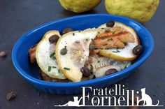 Fillet of #pollock refreshed by the scent of #citron and orange blossom #honey, with #capers and cailletier #olives - Fratelli ai Fornelli