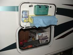 Great idea for RV storage bins