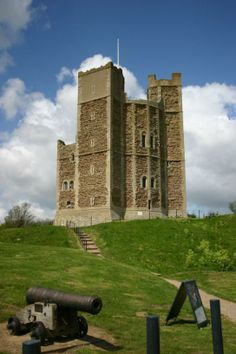 Orford Castle in Oxfordshire, England, built in the 12th century by Henry II