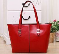 2014 New promotion women's genuine leather+PU Leather handbag ...