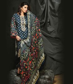 Rajbari Premium Fall Winter Linen Collection 2015 RB_04A