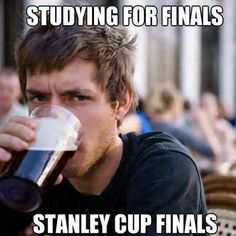 Studying for Stanley Cup Finals. #hockey
