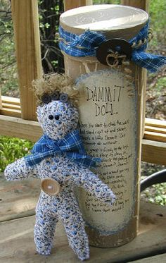 How to make Dammit Doll - Country - DIY Craft Project with instructions from Craftbits.com