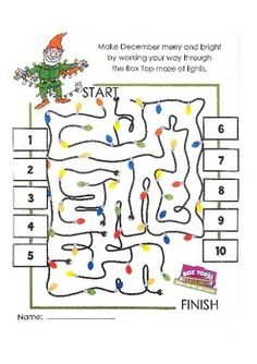Winter Theme Collection Sheet - Box Top collection sheets are a great way to earn money that can be used for special projects for your school. Simply have families tape or glue Box Tops to the designated spots on the sheets. Work Together, Earn Together.