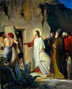 The Raising of Lazarus by Carl Heinrich Bloch