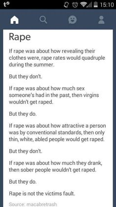 Rape is not the victims fault