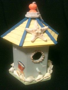 Wooden birdhouse by chloehaney on Etsy, $18.00