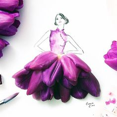 Happy #LunarNewYear from Saks. Sketched by @grace_ciao #CNY