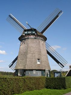 Polder mill Twiskemolen, Landsmeer, the Netherlands.