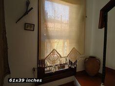 Kitchen Curtain Valance Crochet Curtain Cotton Valance Window Curtain Home Valance Linen Curtain Treatment Window Valance Cottage Curtain
