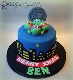 Teenage Mutant Ninja Turtle cake.......