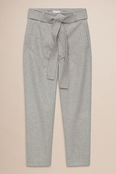 ...with a muted palette of gray...Wilfred Jallade Pant, $145, available at Aritzia.  #refinery29 http://www.refinery29.com/color-wheel-creative-outfit-combinations#slide-7