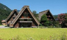 These striking buildings are from  the mountain  village  of Shirakawa-go in Japan.| A-frame cabin designs | Tiny Homes