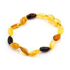 sur bande /élastique/ Bracelet Ambre de la Baltique pour adultes hommes et femmes /Fabriqu/é /à la main en Ambre de la Baltique authentique perles /18/cm/