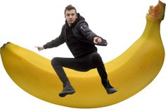 lil' bean is riding a banana