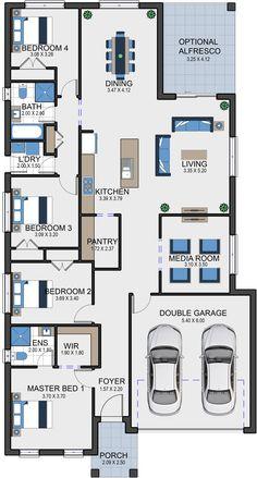 Vesta Homes - great floor plan for us House Layout Plans, Family House Plans, New House Plans, Dream House Plans, Modern House Plans, House Layouts, House Floor Plans, Bamboo House Design, Bungalow House Design
